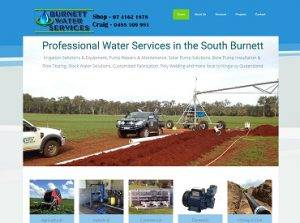 Burnett Water Services Website Screenshot