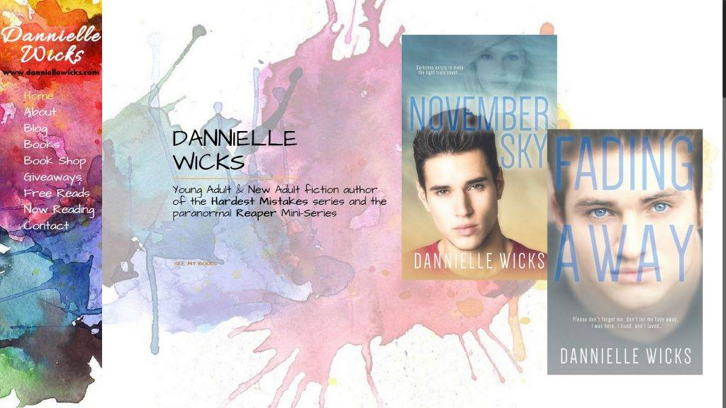 Danielle Wicks Website Screenshot - Old