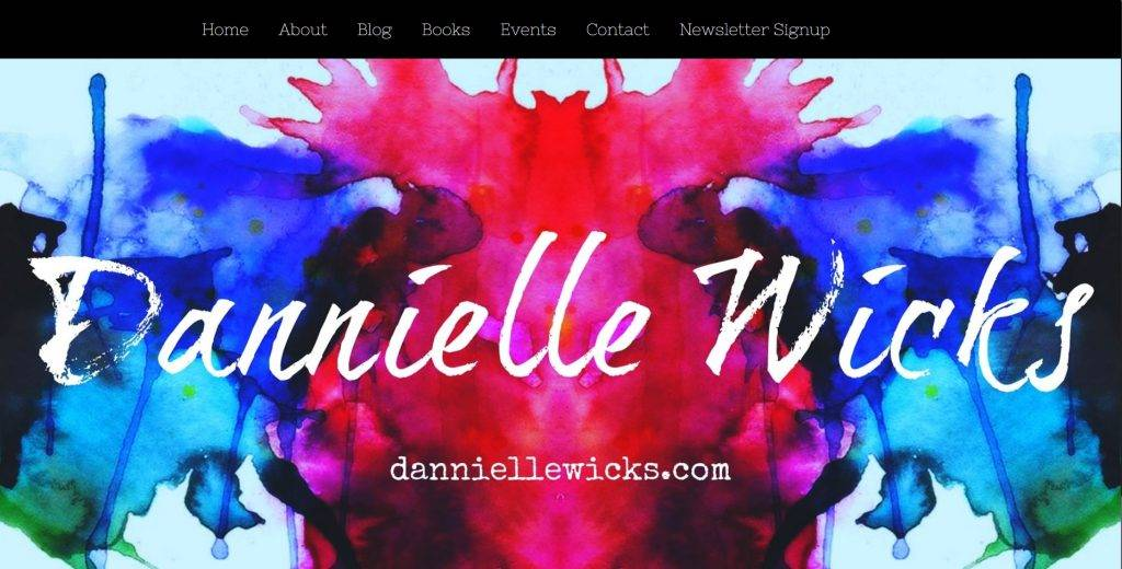 Danielle Wicks Website Screenshot