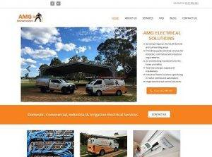 AMG Electrical Solutions Website Design & Development by Impulse Impressions