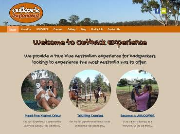 Outback Experience Website Design & Development by Impulse Impressions