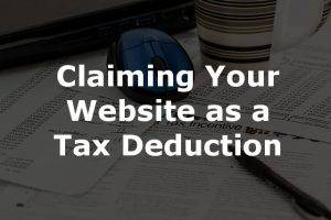 Claiming a website as a tax deduction