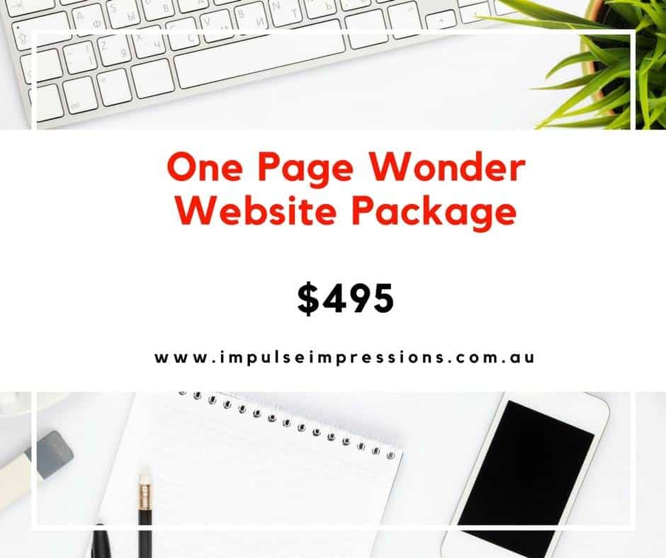 One Page Wonder Website Packages