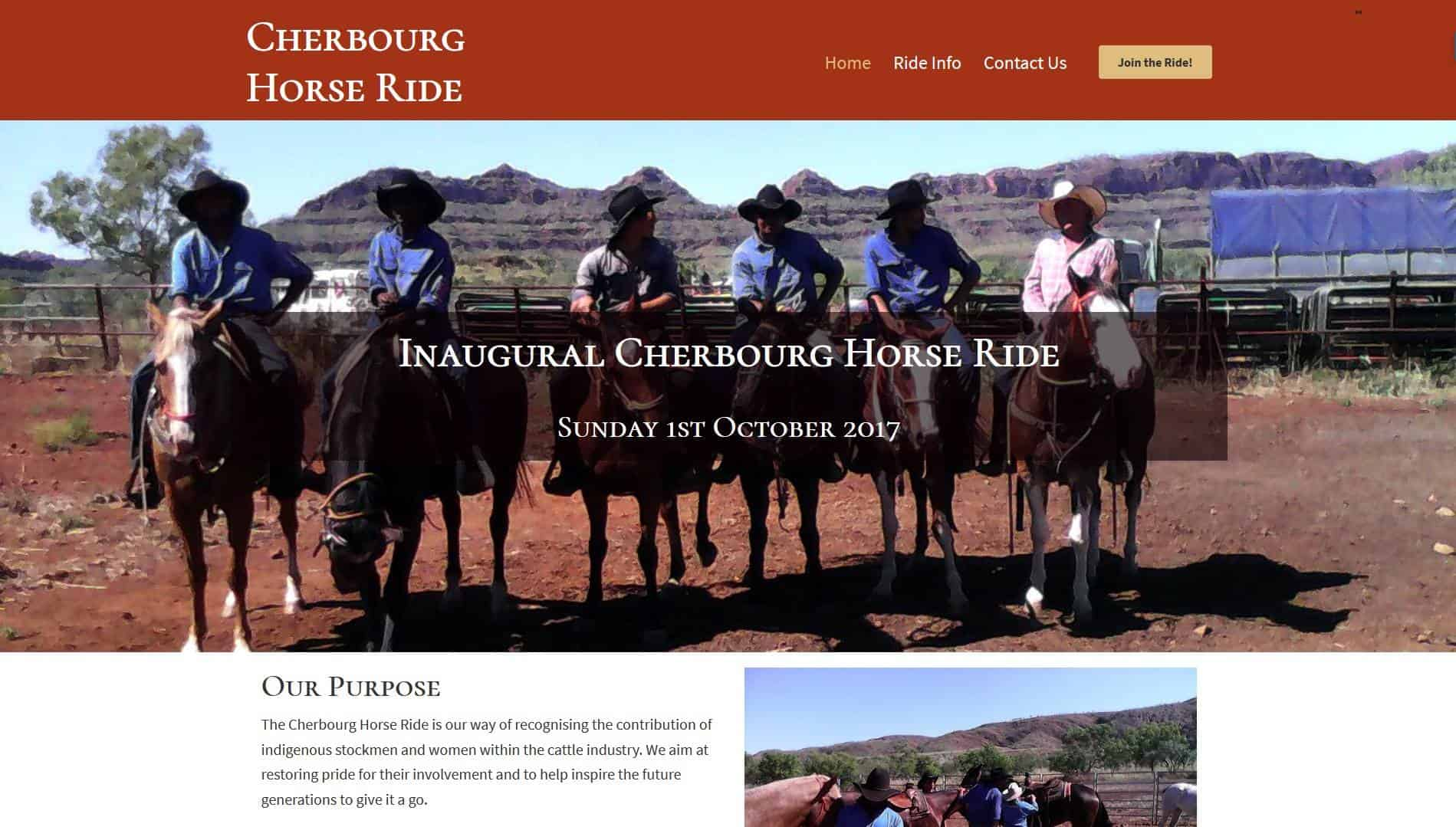 Cherbourg Horse Ride Website Development by Impulse Impressions